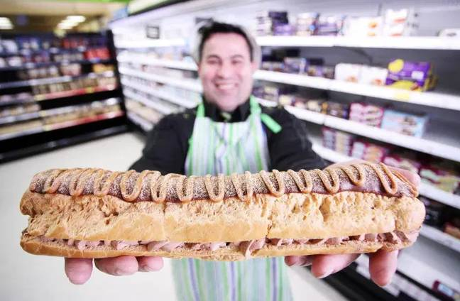 The eclair is intended to serve as many as 10 people (Credit: Asda)