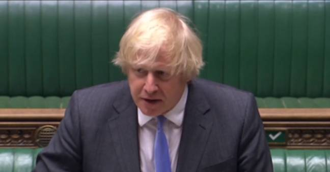 Boris announced the news on Tuesday (Credit: Parliament.TV)