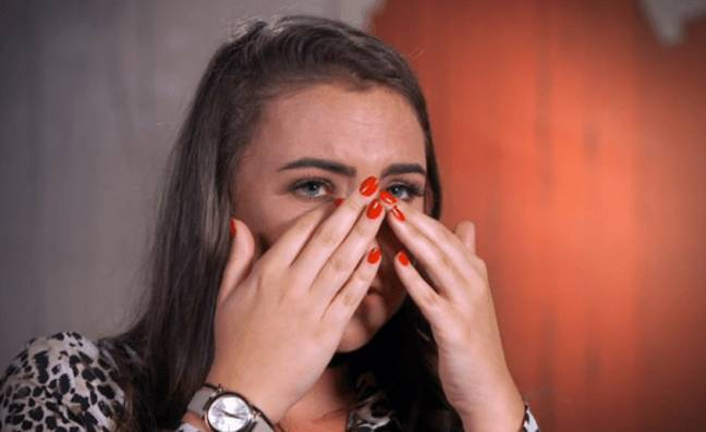 Maria was in tears as she recalled the story. Credit: Channel 4