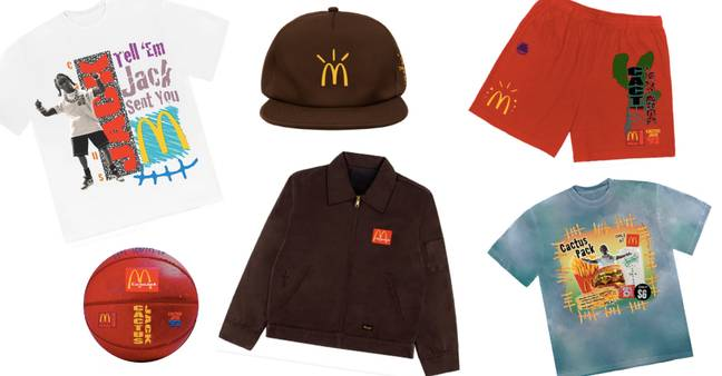The collection also features clothes and even a basketball (Credit: McDonalds X Travis Scott)
