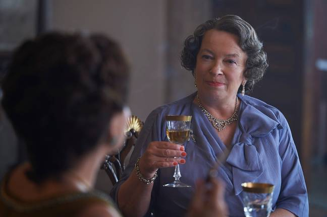 Marion Bailey will be introduced as the Queen Mother in season 3. (Credit: Netflix)