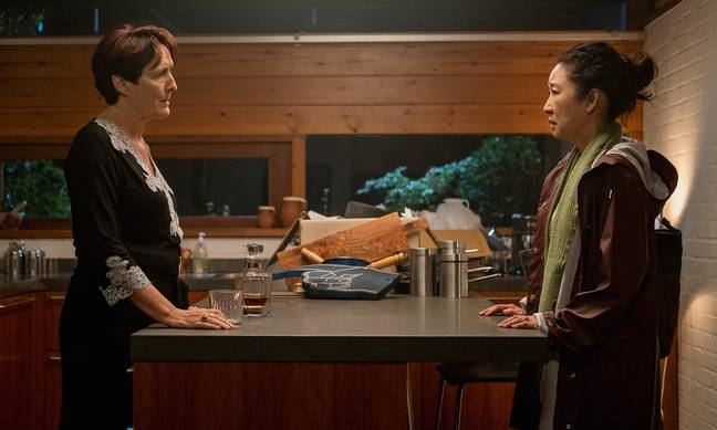 Eve is reunited with her former boss, Carolyn (Fiona Shaw) (Credit: BBC America/ AMC)