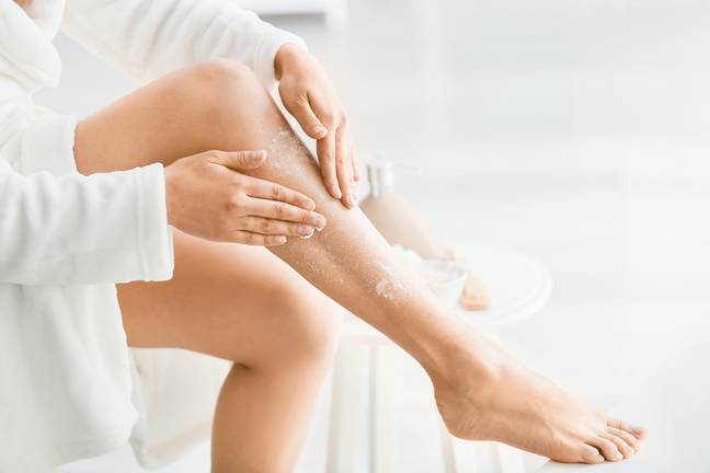 While many of us exfoliate our skin before applying fake tan, it's crucial not to exfoliate before stepping out in the sun (Credit: Shutterstock)