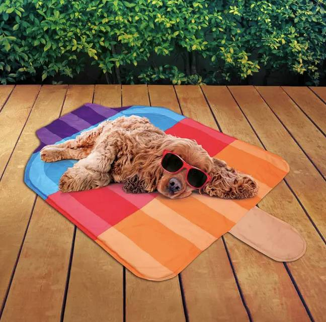 B&M is now selling cute cooling mats for our fur babies to cool off on when they're feeling the heat (Credit: B&M)
