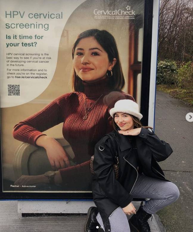 The campaign highlighting the importance of cervical screenings (Credit: Kennedy)