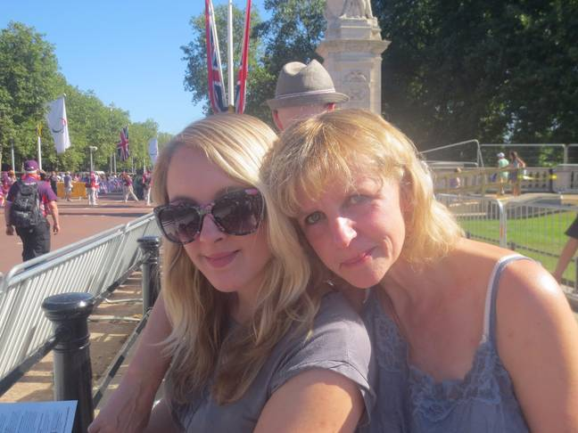 Lucy with her mother, who died when Lucy was 28 (Credit: Lucy Miller)