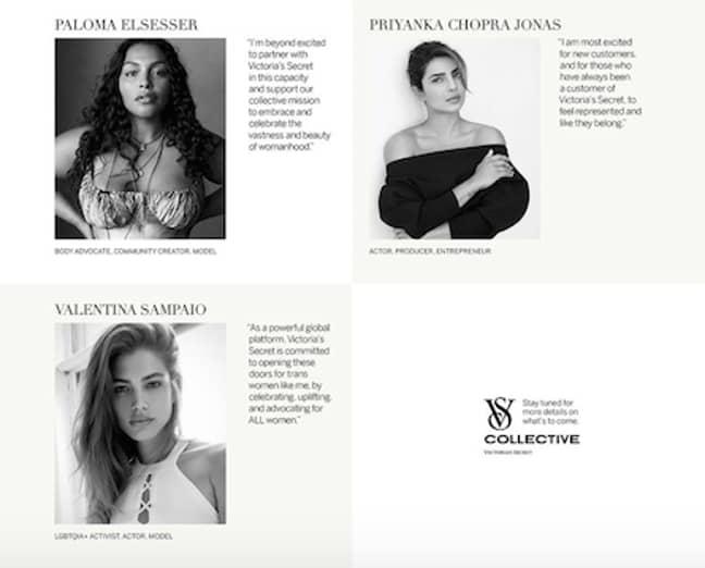 The VS collective marks a new era for Victoria's Secret (Credit: Victoria's Secret)