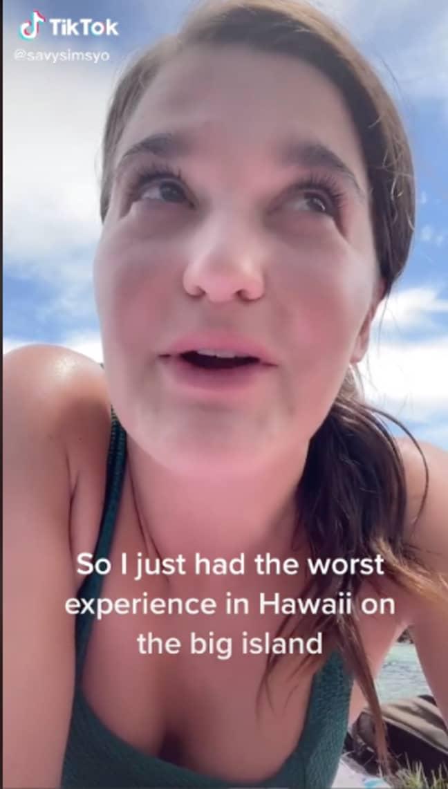 Savannah shared her experience on TikTok (Credit: TikTok/@savysimsyo)