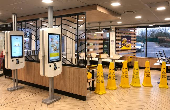 McDonald's has reopened a number of restaurants to dine in today (Credit: PA)