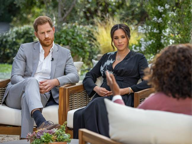 Harry and Meghan will lift the lid on why they quit royal duties (Credit: Harpo Productions - Joe Pugliese)
