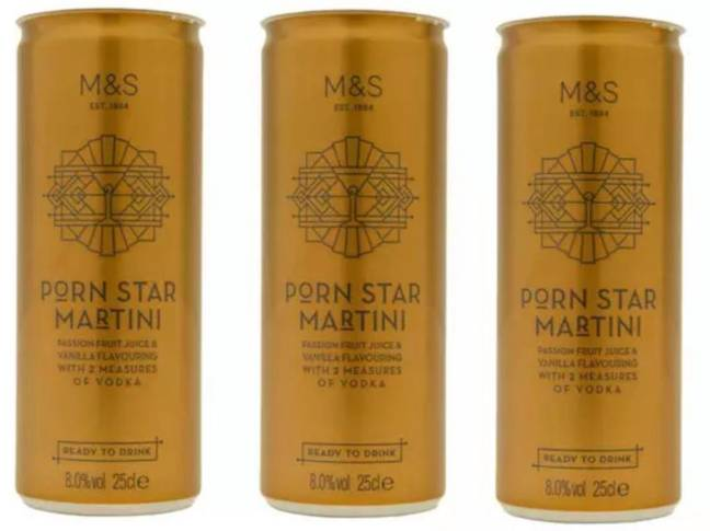 M&S launched its original Pornstar Martini in a can back in 2018 and it quickly became a bestseller. The name was changed to Passion Star Martini in 2019 (Credit: M&S)