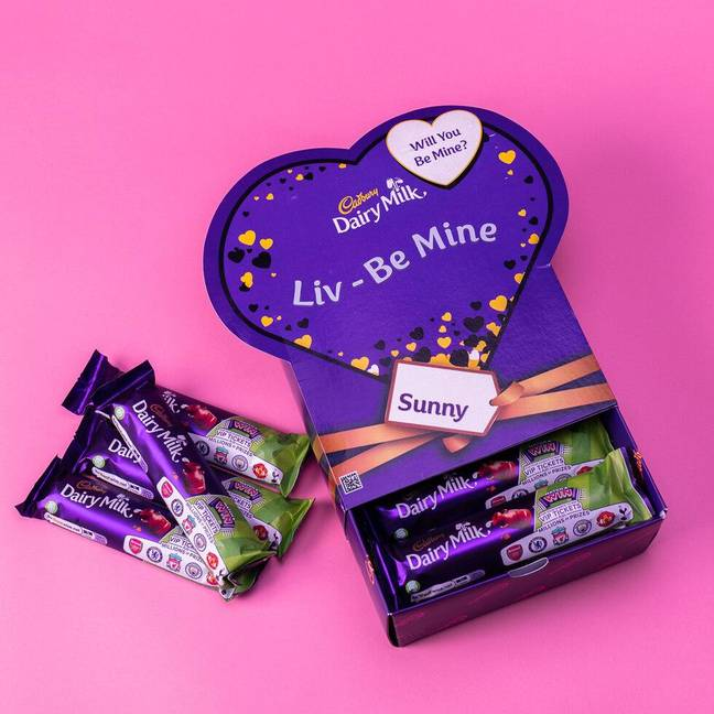 You can get a personalised box filled with 20 chocolate bars (Credit: firebox.com)