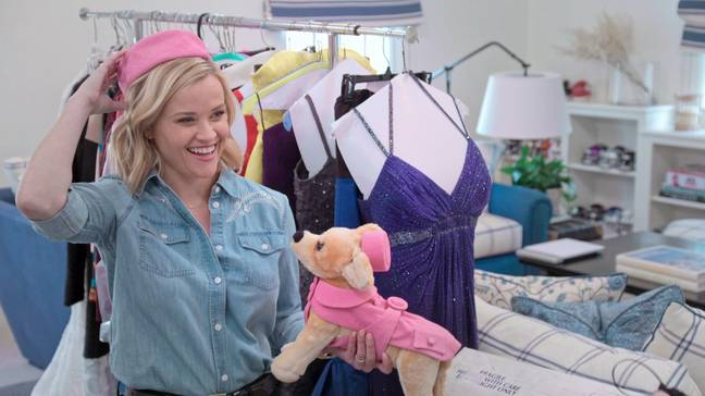 The cleaning-themed series gave viewers a glimpse inside Reese's wardrobe - including her outfits from 'Legally Blonde' (Credit: Netflix)