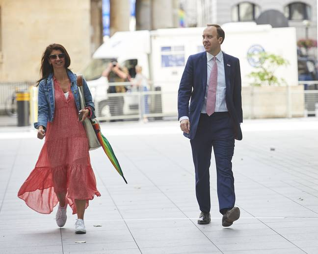 Matt Hancock with Gina Coladangelo - who he was caught kissing (Credit: Shutterstock)
