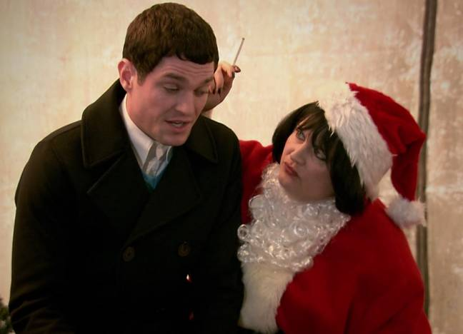 Ruth Jones and Mathew Horne in the 2008 Christmas Special (Credit: BBC)