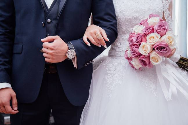 You can no longer link arms when you're walked down the aisle (Credit: Pixabay)