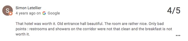 The lobby got praise in the reviews (Credit: Google Review/ Stay On Main)