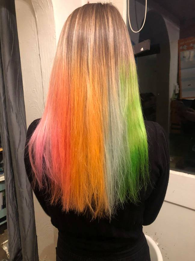 You can even opt for multiple colours for the full mermaid vibe (Credit: SWNS)