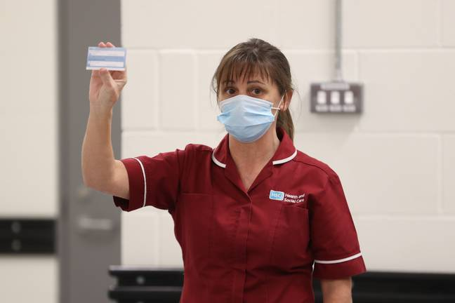 The vaccine card denotes your jab, batch number and date of vaccination (Credit: PA Images)