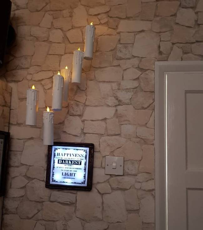 The floating candles look seriously spooky (Credit: Lisa Barber)