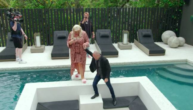Gemma makes her pitch to be part of the brokerage (Credit: ITV)