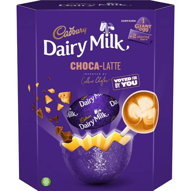 Choca-Latte chocolate was designed by Callum Clogher who entered a Cadbury competition earlier this year. (Credit: Cadbury)