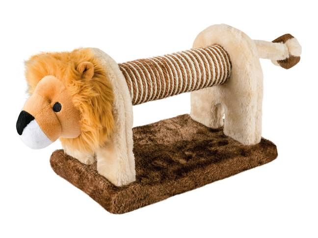 Make your tabby feel like Mufasa with this lion-shaped Cat Scratching Post for £7.99 (Credit: Lidl)