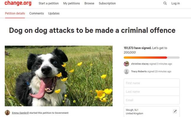 Emma launched a petition after her dog was killed (Credit: Kennedy News Media)