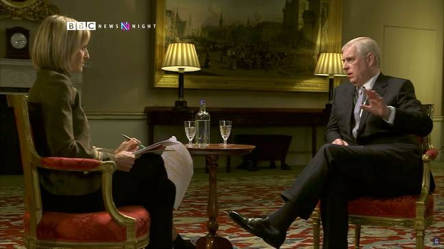 Prince Andrew had to retire from royal duties following his disastrous Newsnight interview (Credit: BBC)