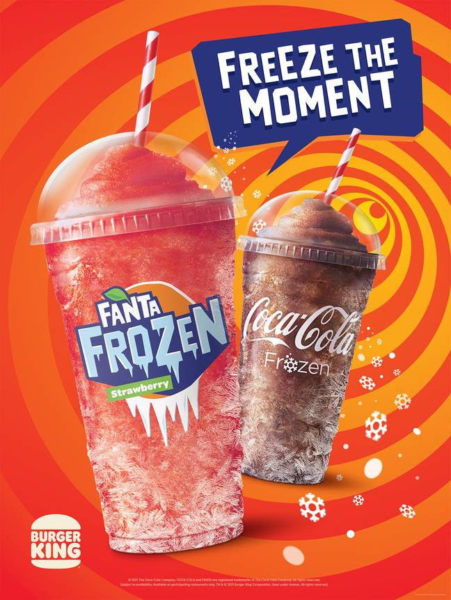 You can now buy Frozen Strawberry Fanta at Burger King (Credit: Burger King)