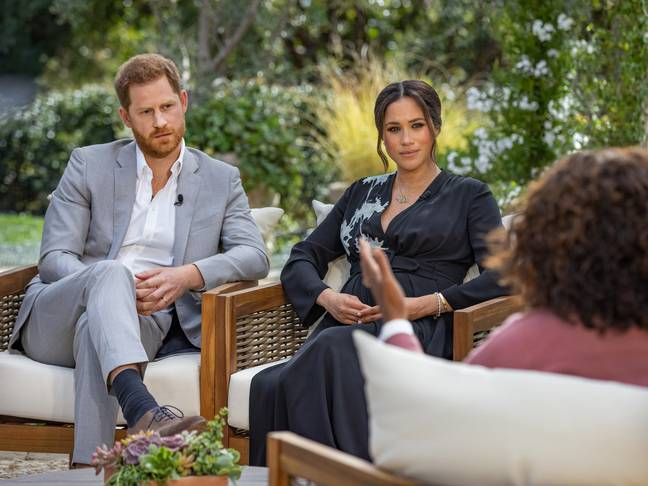 Prince Harry and Meghan Markle discuss leaving the Royal Family (Credit: CBS)