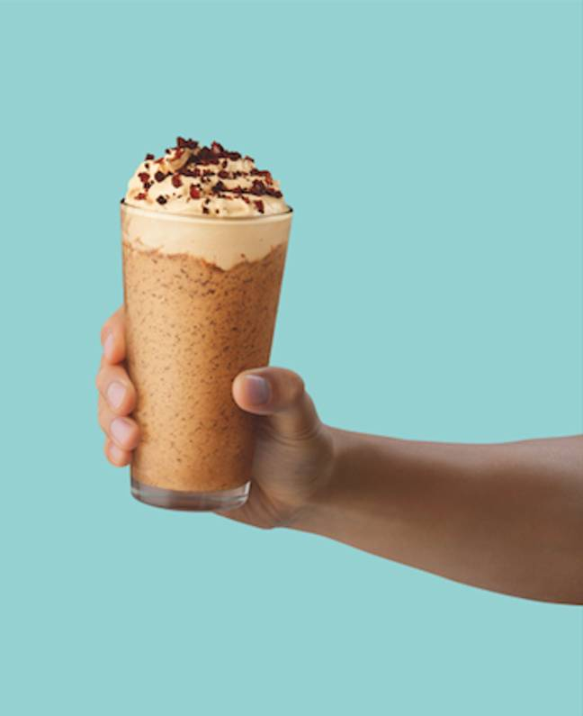 The Caramel Cream Frap seems like it'll be our new favourite (Credit: Starbucks)