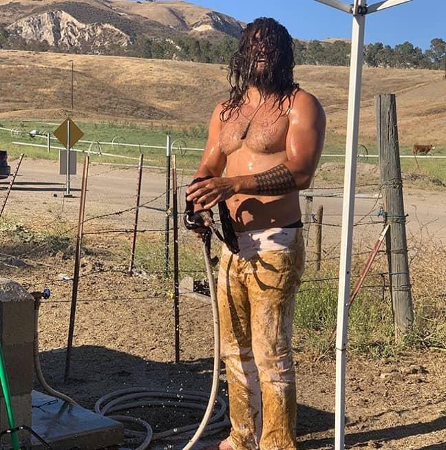 Jason post-hosing (Credit: @prideofgypsies)