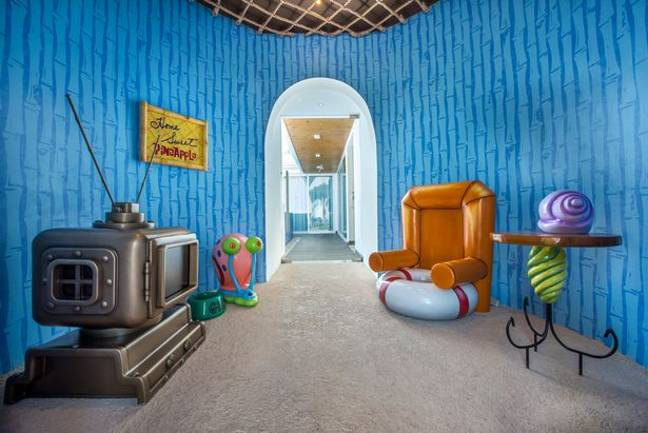 SpongeBob Squarepants' living room is replicated in this property (Credit: Nickelodeon Hotels and Resorts Punta Cana)
