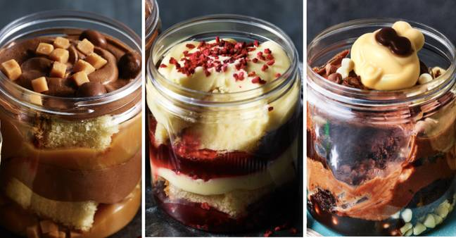 Feast your eyes on these delicious cake jars (Credit: M&S)