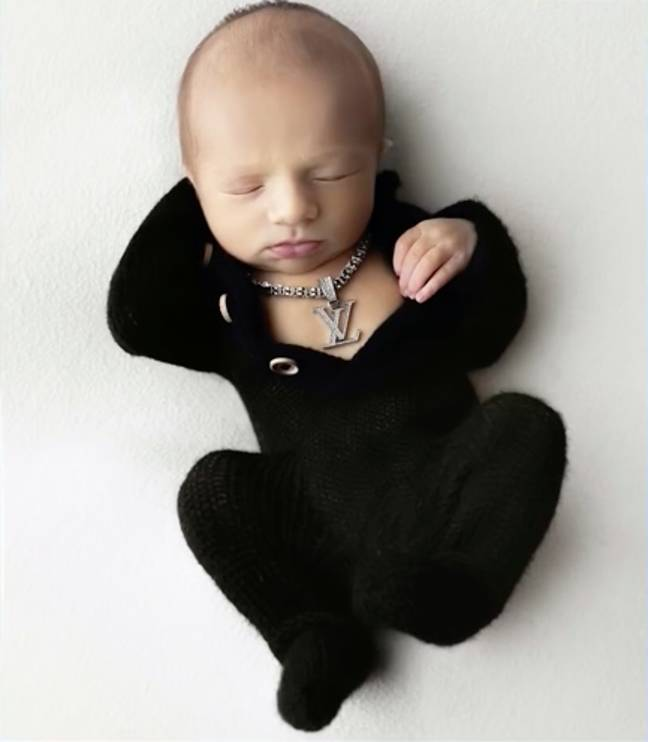 Baby Christian was all blinged up (Credit: E!/Patty Orion)