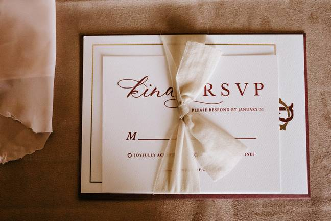 The bride decided to snub the RSVP (Credit: Pexels)