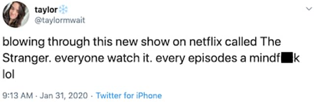 Fans are loving the Netflix show (Credit: Twitter)
