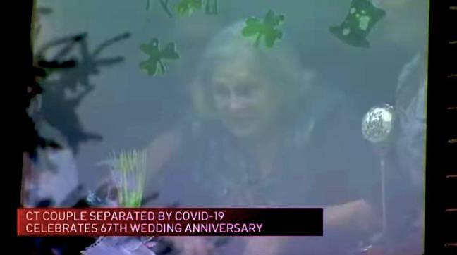 Nancy watched out from her bedroom window (Credit: NECN)