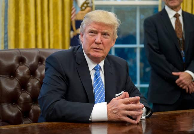 Trumps opposes Roe. v Wade (Credit: PA)