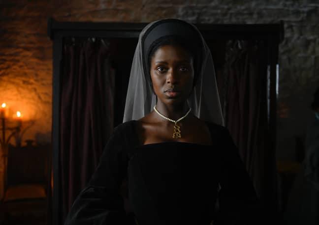 Jodie Turner Smith as Anne Boleyn (Credit: Parisa Taghizadeh)