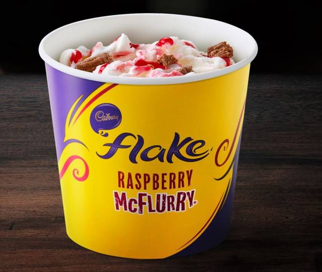 It's never too cold for a Raspberry Flake McFlurry. (Credit: McDonald's)