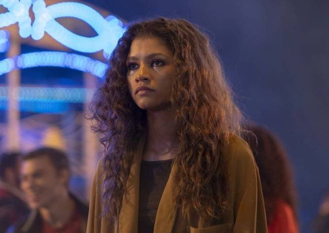 Zendaya plays Rue in the gritty teen drama (Credit: HBO/Sky Atlantic)