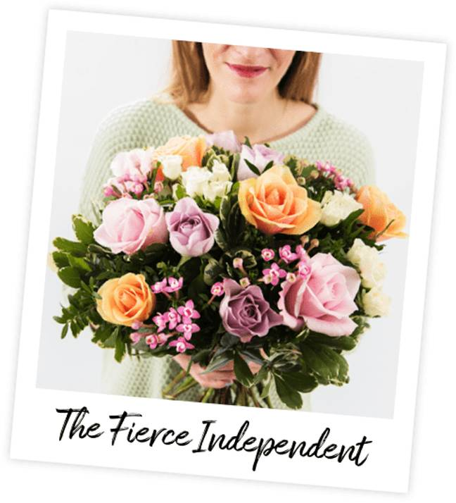 Inspired by Selena Gomez, The Fierce Independent bouquet is pet-friendly and features 3 varieties of rose (Credit: Interflora)