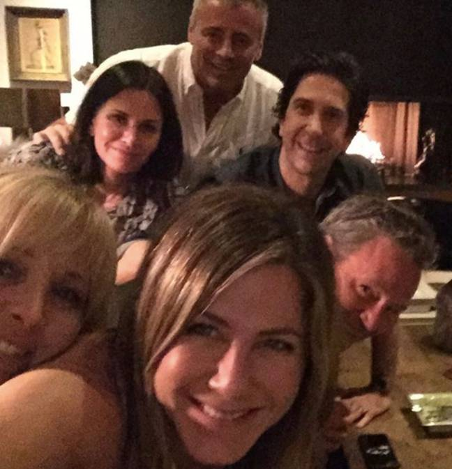 Jennifer Aniston's first picture was with the cast of 'Friends' Credit: Instagram/ Jennifer Aniston