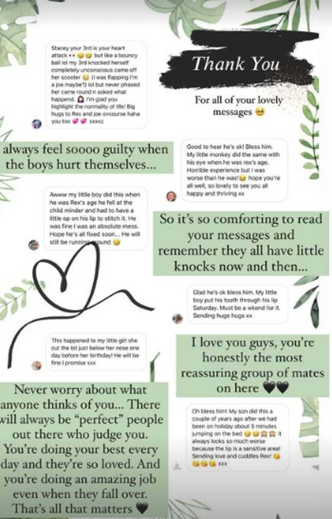 Fans wrote to Stacey to send her love (Credit: Instagram - Stacey Solomon)