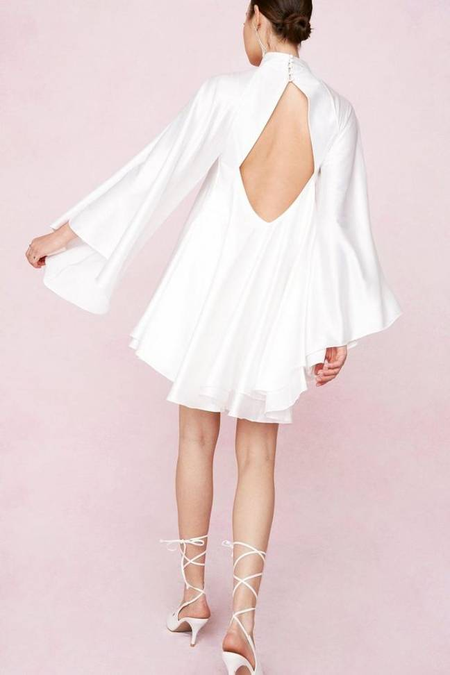 This open back satin number is stunning (Credit: Nasty Gal)