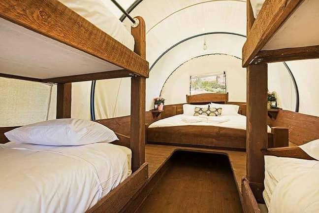 Inside can sleep six people (Credit: Capitol Reef Resort)
