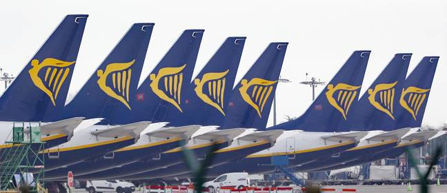 A number of RyanAir flights have been grounded throughout the pandemic (Credit: PA Images)