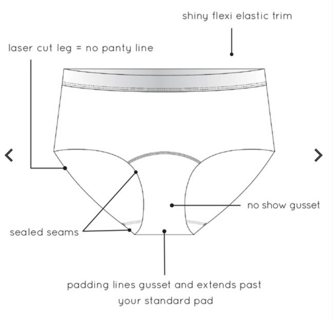 They are discreet so nobody will know you're wearing period pants (Credit: Tu at Sainsbury's)